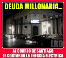 Edificio del correo de Santiago está a oscura por una deuda millonaria con Edenorte